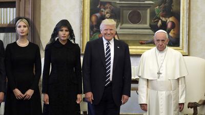 Las fotos de la familia Trump con el papa Francisco en el Vaticano