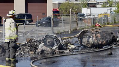 En fotos: Una avioneta cae a tierra en Nueva Jersey