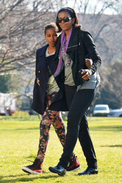 Michelle Obama se distingue porque no tiene miedo a salir con un 'outfit...