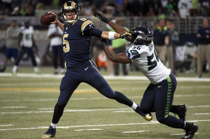 Nick Foles y los St. Louis Rams sorprendieron a los Seattle Seahawks y s...