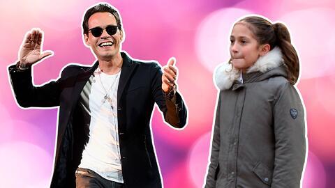 El cantante Marc Anthony y su hija Emme.