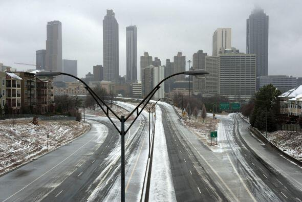 Atlanta amaneció congelada el miércoles.