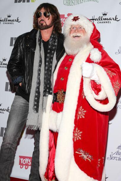 Santa también es amigo de las estrellas de rock.