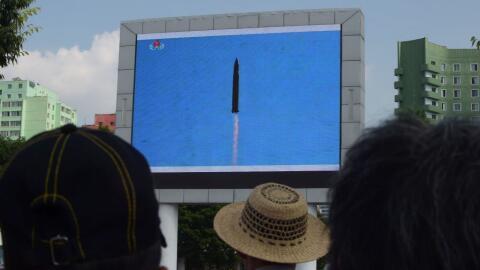 El pasdo 4 de julio Corea del Norte probó con éxito el misil balístico i...