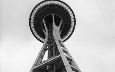La torre sapce Needel abrió al público en 1962 con motivo...
