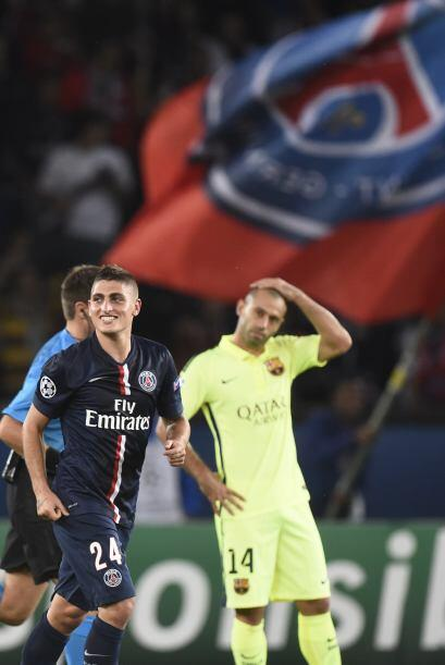 El jugador del PSG aprovechó una mala salida del portero Ter Stegen.