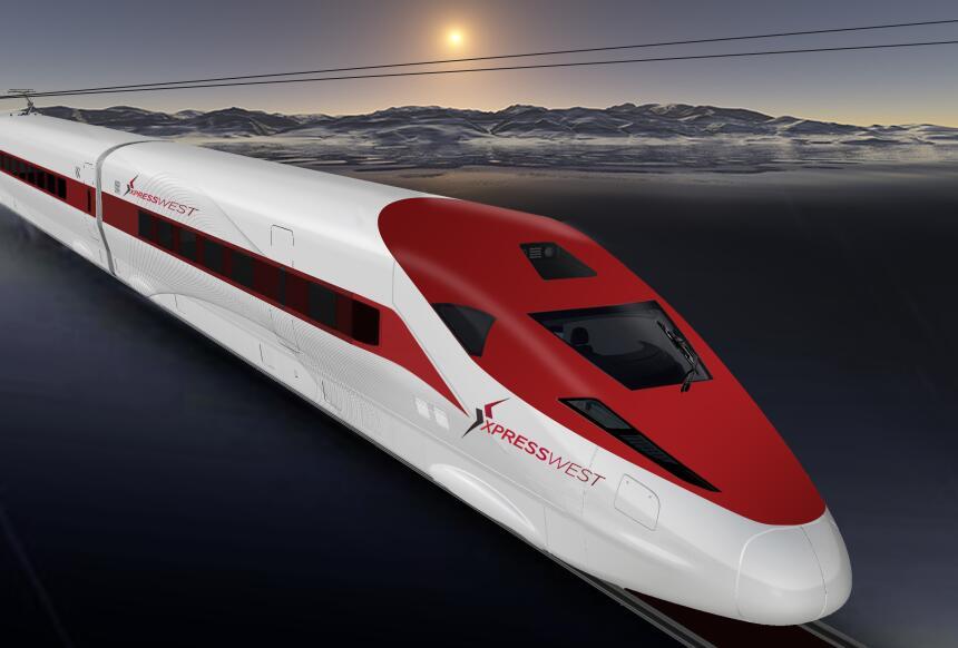 El proyecto Xpress West quiere instalar un tren rápido entre Las Vegas y...