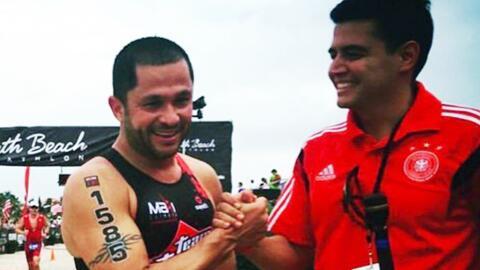 Andrés López cumplió el reto de correr una triatlón