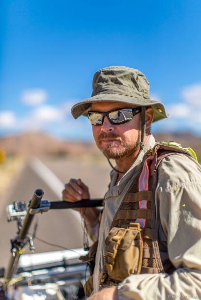 El viajero de 45 años comenzó a caminar desde Los Angeles, California, h...