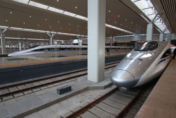 Los trenes forman parte esencial del sistema de transporte de China.