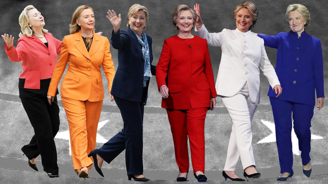 The pantsuit has become the Democratic candidate's unofficial symbol.
