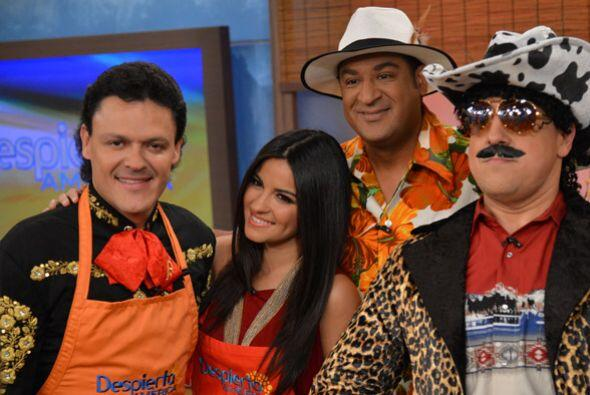 Maite y Pedro estaban felices de mostrar que también son buenos cocineros.