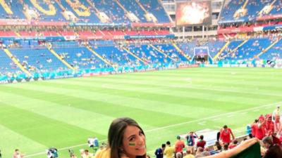 Louise Ramos, el gran apoyo del delantero brasileño Douglas Costa