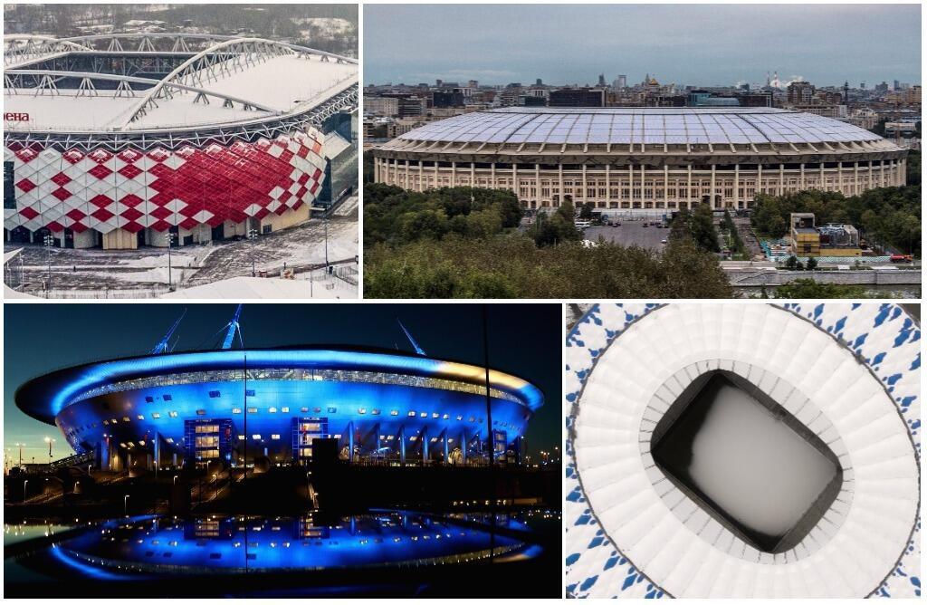 A 100 días, así están las obras en los estadios para el Mundial de Rusia...