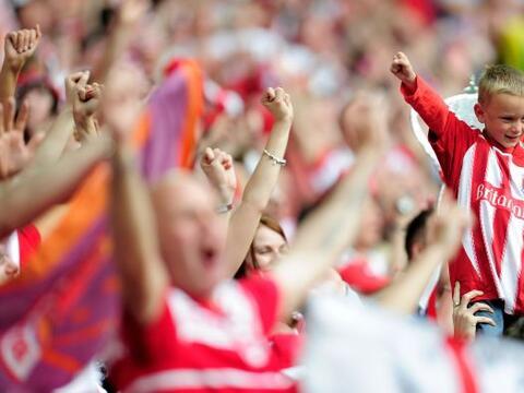 Es un gusto ver a la niñez en los estadios de fútbol.