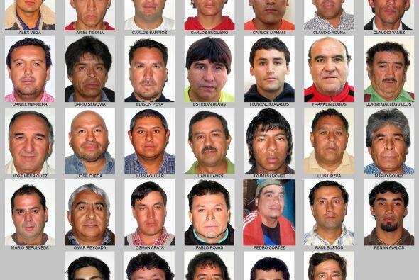 Los 33 mineros atrapados hace 18 días al interior de una mina en el nort...