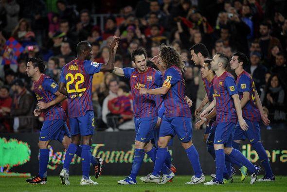 El Camp Nou era una fiesta total. Goles y buen fútbol por parte del equi...