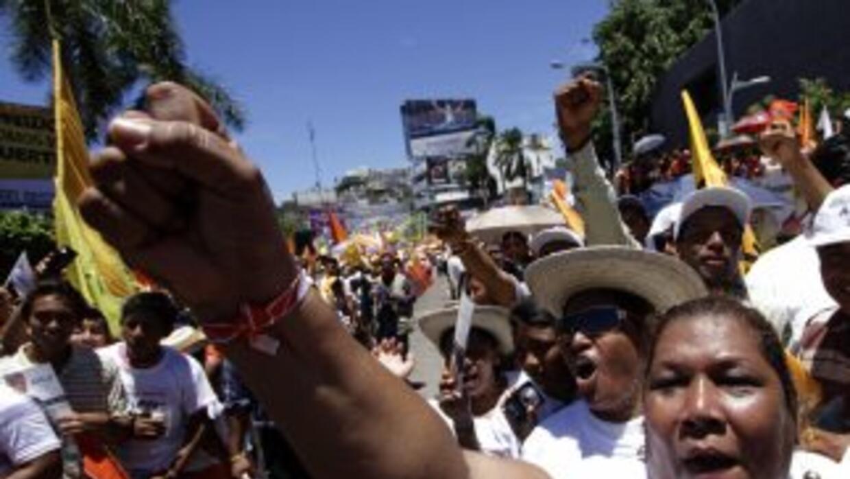 Marcha en Acapulco contra la violencia.