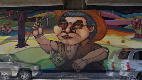 Un mural pintado por artista Norte.