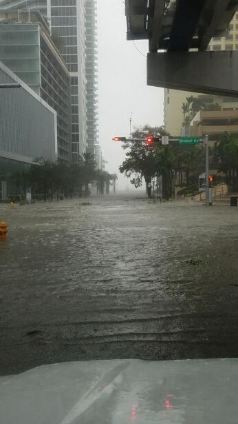 The Brickell Avenue banking district just south of Miami