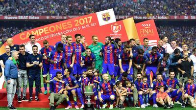 Barcelona se coronó campeón de la Copa del Rey en el cierre de su temporada