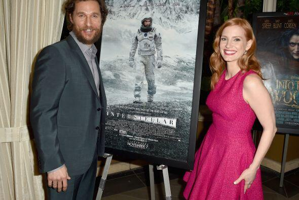 Los protagonistas de 'Interstellar', McConaughey y Chastain