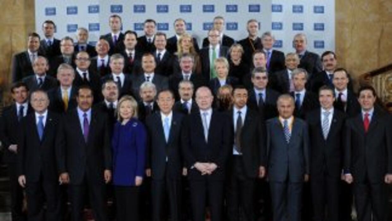 Los aliados de la coalición internacional en Libia mostraron un frente u...