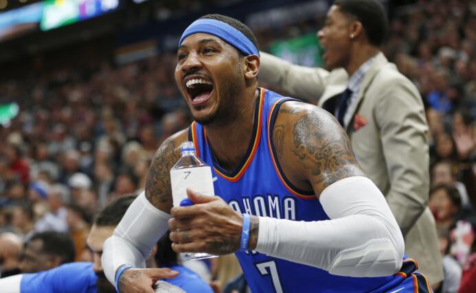 12. Carmelo Anthony (Oklahoma City Thunder) - 26,243,760 millones de dól...