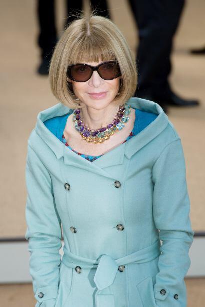 """La editora de """"Vogue"""", Anna Wintour, fue a tomar nota de los próximos 'm..."""
