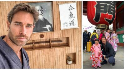 Sebastián Rulli ya comenzó a grabar 'El último dragón' en Japón