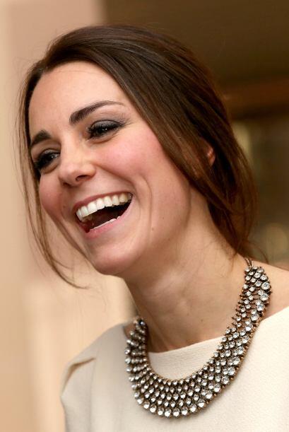 El mejor accesorio de Kate es su sonrisa.
