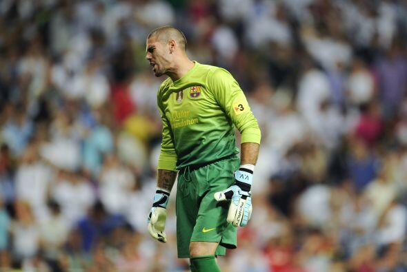 Por parte de la puerta 'blaugrana', Valdés también tuvo una actuación fe...