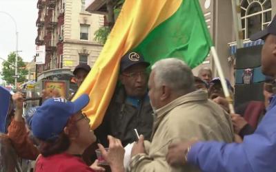 """Dominicanos dan grito de guerra en Nueva York: """"No aceptamos fraude"""""""