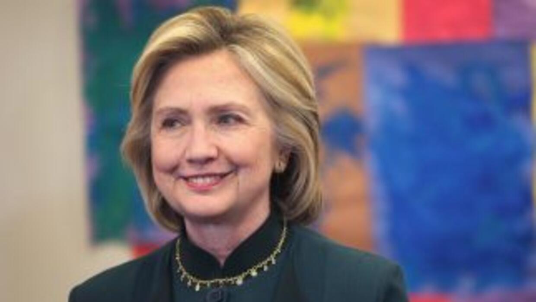 Hillary Clinton, candidata demócrata a la presidencia de Estados Unidos...
