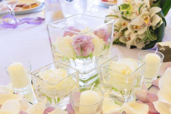 Jamie agregó velas en todas las mesas para lograr una atmósfera delicada...