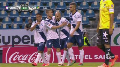 Acuña define de cabeza y Puebla ya le gana 1-0 a Venados