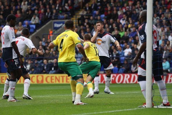 Pero Anthony Pilkington y Bradley Johnson anotaron para darle al Norwich...