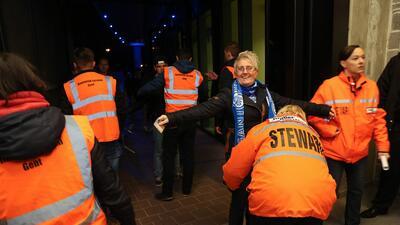 El fútbol belga se juega bajo fuertes medidas de seguridad.