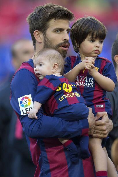 Aquí con sus hijos cuando ganó la Copa del Rey.