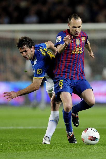Andrés Iniesta fue, una vez más, el encargado de armar el juego azulgrana.