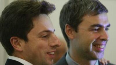 Sergey Brin y Larry Page, los fundadores de Google.