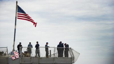 Foto de archivo de marinos de EEUU