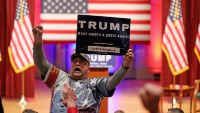 Simpatizante de Donald Trump en Iowa