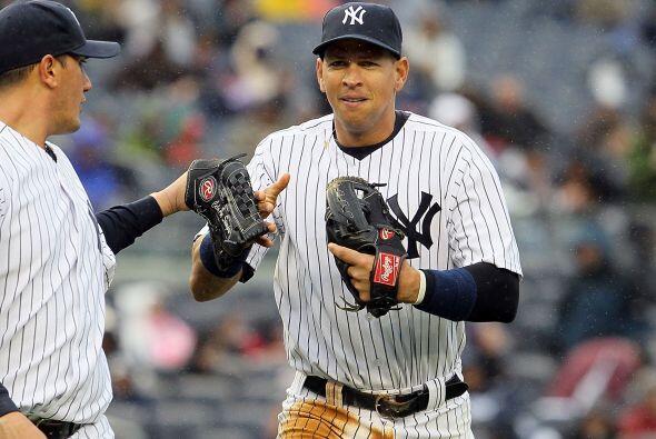 Tercera base: Alex Rodríguez sólo vio acción en cuatro partidos logrando...