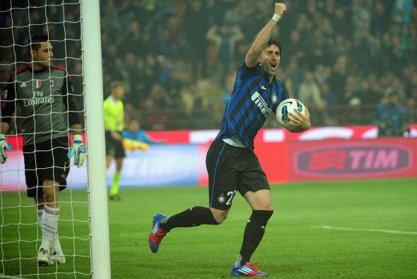 Se marcó un segundo penalti en el partido, ahora a favor del Inter y Mil...