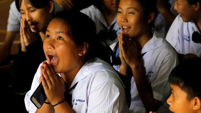 En fotos: El rescate contrarreloj que ya ha salvado a ocho niños de la cueva de Tailandia, mientras otros cuatro se mantienen a la espera