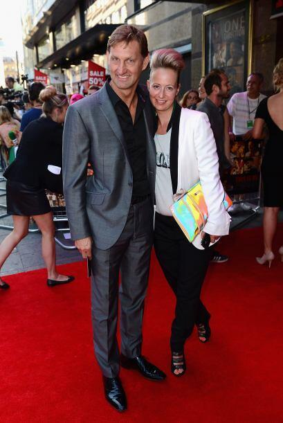 El ex jugador inglés, Tony Adams y su esposa, Poppy Teacher lucie...