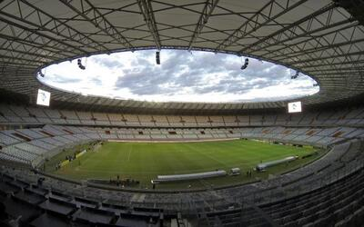 Vista general del estadio de Mineirao, uno de los estadios que fue total...