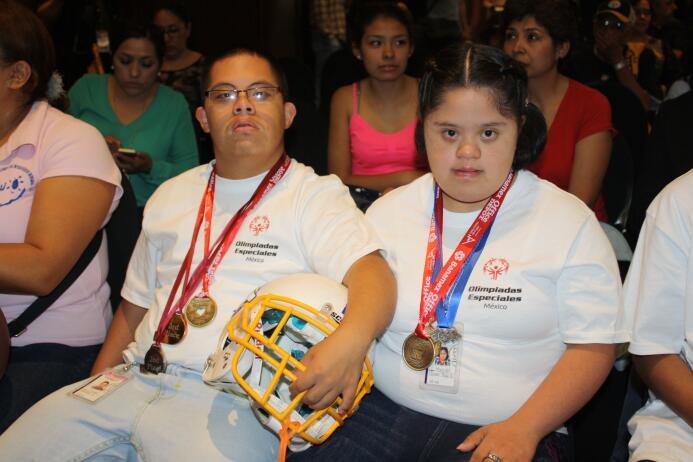 Un total de 20 atletas de Olimpiadas Especiales México que entrenan y co...