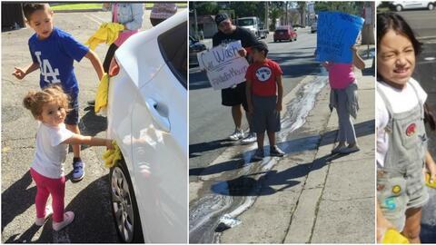 Los niños pusieron el toque emotivo en el evento que Juan Rivera organiz...